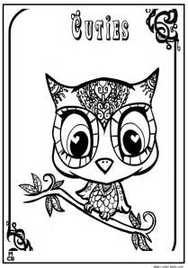 Cuties littlest petshop coloring pages free online 2