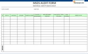 Msds Templates by Pin Msds Blank Safety Forms Excel On