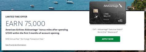 Citi Aadvantage Business Card 75000