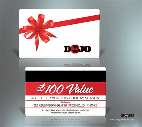 Gift Card Vendors - plastic gift cards holiday style 1 dojo muscle