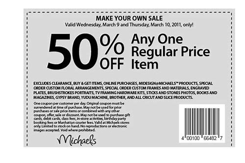 40 off coupon michaels october 2018
