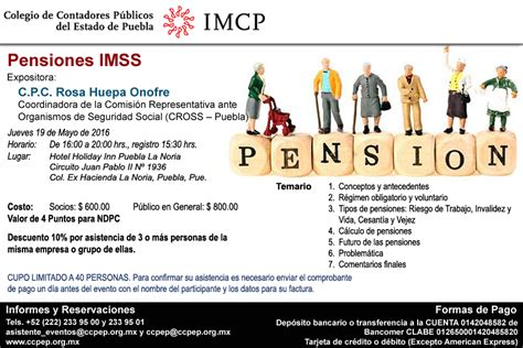 pensiones imss 2016 pensiones imss colegio de contadores p 250 blicos del estado