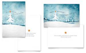 winter landscape greeting card template word amp publisher