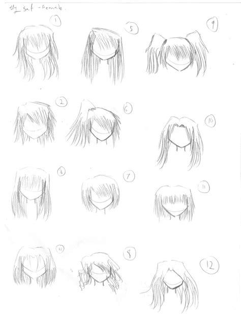 manga girl hair reference anime hair reference by sanekoprinceoftennis on deviantart