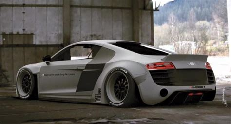 Liberty Walk previews wide body kit for first gen Audi R8