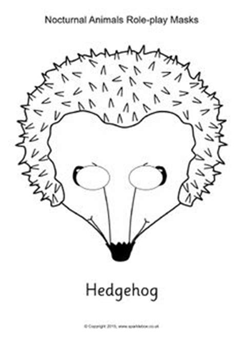 printable hedgehog mask template dove role play masks sb11173 sparklebox role play