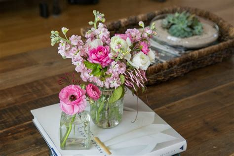 coffee table flower arrangements how to make a simple floral arrangement at home the kim