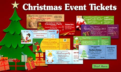 christmas party ticket template tickets best ticket printing