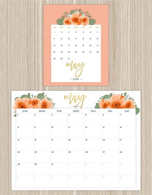 printable calendar 2016 flowers may 2016 printable calendar with flowers calendar