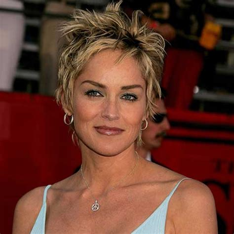 pics of sharon stones hair cut only print out front and back best sharon stone short hairstyles sharon stone cortes