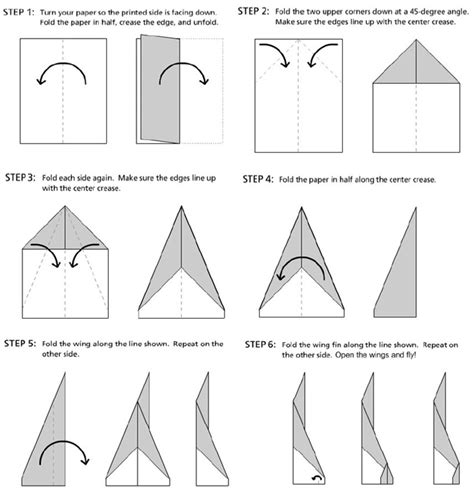 Paper Plane Folding Template - peterson s pad paper airplane learning