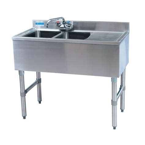 Bk Resources Bkubw 236rs 36 Quot Wx18 1 4 Quot D Stainless Steel Slimline Kitchen Sink