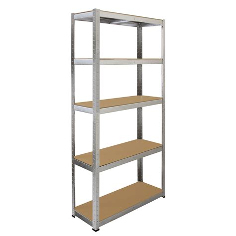 Metal Garage Shelf by 1 Galvanised Steel Racking Garage Storage Shelving 5 Tier