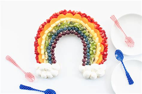 Rainbow Tart rainbow fruit tart handmade