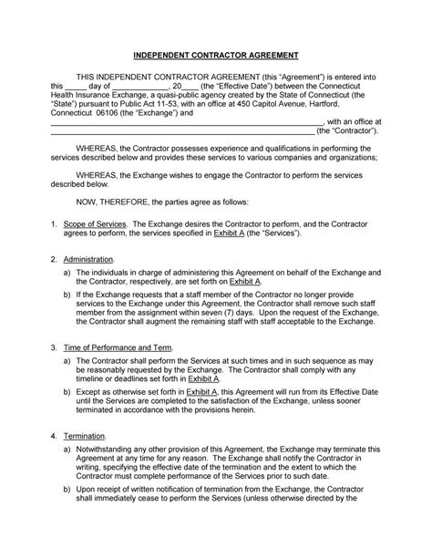 template for independent contractor agreement 50 free independent contractor agreement forms templates