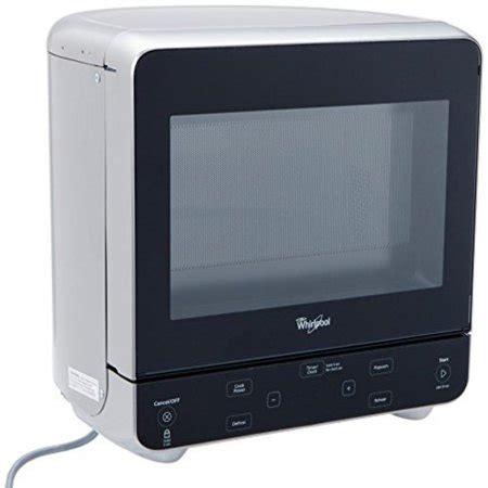 whirlpool 0 5 cu ft countertop microwave in black whirlpool wmc20005yd 0 5 cu ft stainless look countertop