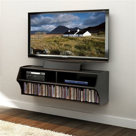 wall mount cable box component shelf for tv