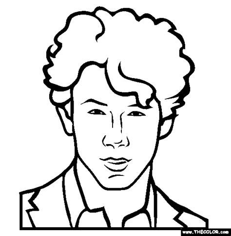 Nick Coloring Pages For Boys Famous People Online Coloring Pages Page 1 by Nick Coloring Pages For Boys