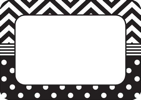 Aufkleber Namen by Black White Chevrons And Dots Name Tags Labels Tcr5548