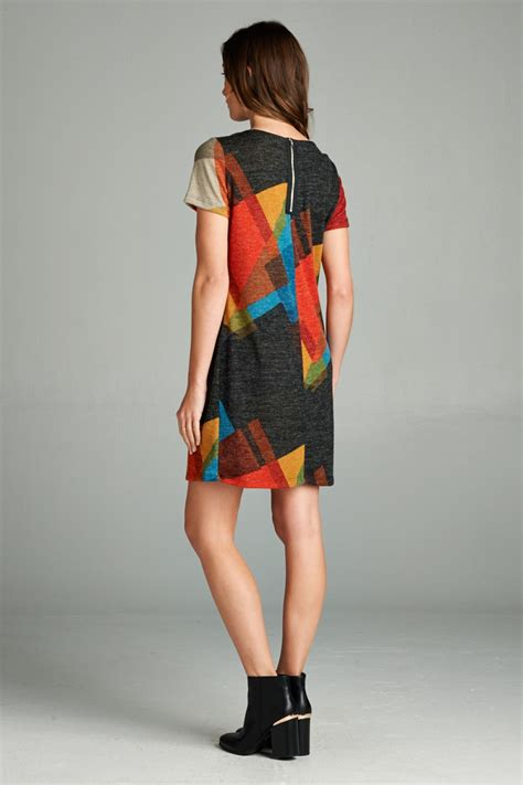 Abstrak Dress abstract shift dress lazy caturday and unique