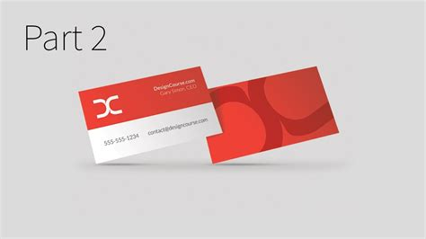 design id card in illustrator modern business card design in illustrator cc part 2