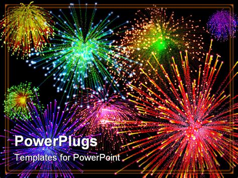 Powerpoint Fireworks Animation Best Fireworks Powerpoint Template 3d Illustration Of