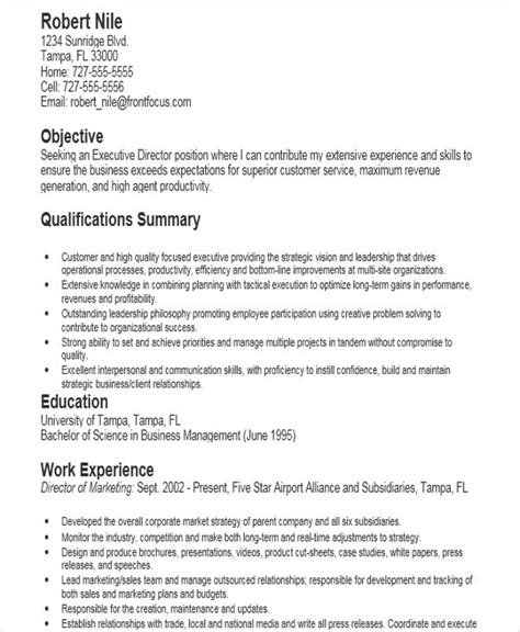Managing Director Resume Sle by Executive Director Resume Resume Template Ideas