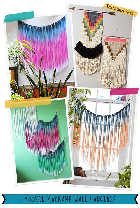 Most Popular Home Design Blogs modern macrame wall hangings eclectic home