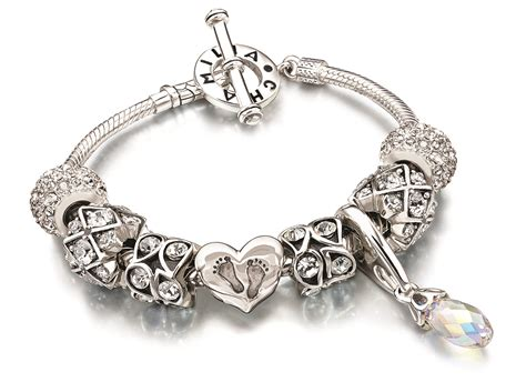chamilia sterling silver t bar charm bracelet 7 1 quot 7 5