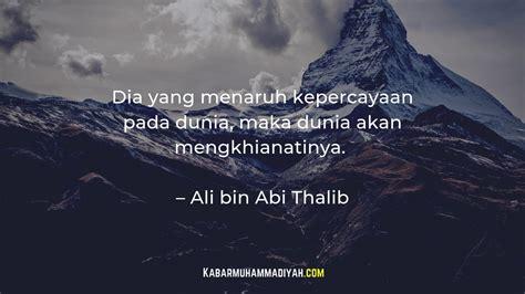 kata motivasi islam ali bin abi thalib youtube