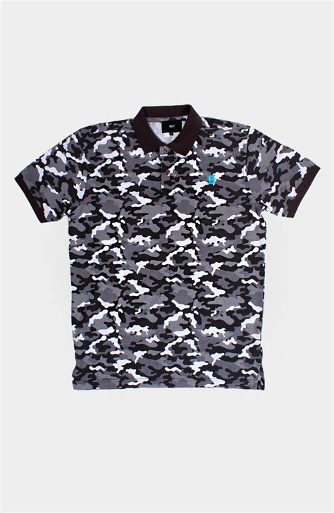 Grey T Shirt Set set s camo polo shirt grey via set store setstore co uk