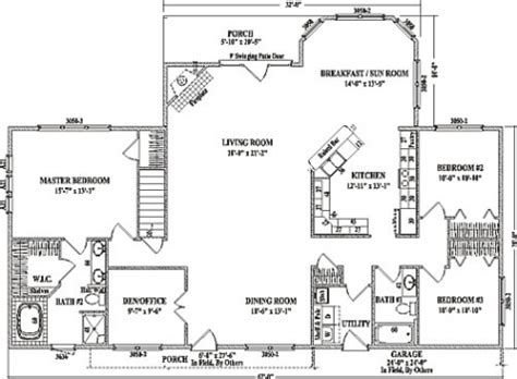 open ranch style floor plans open floor plan ranch style house plans intended for open