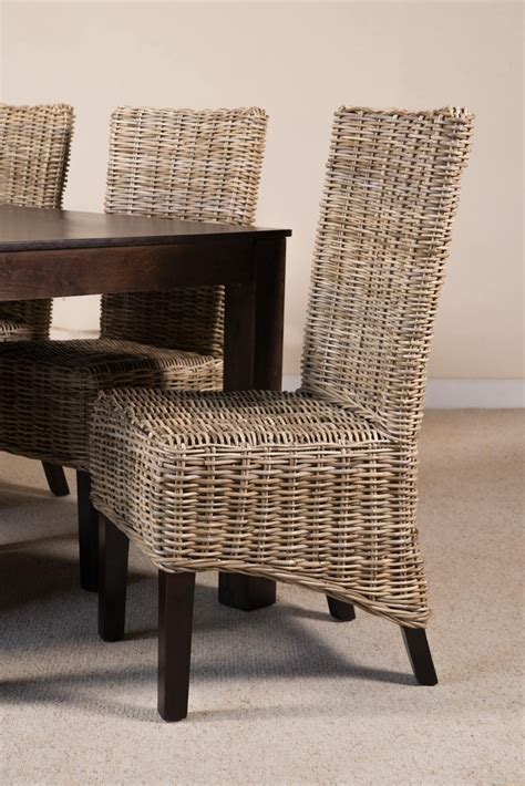 kubu grey rattan dining chair casa furniture uk