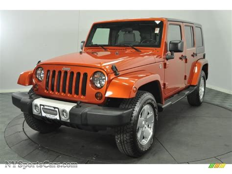 orange jeep wrangler unlimited for sale 2009 jeep wrangler unlimited sahara 4x4 in sunburst orange