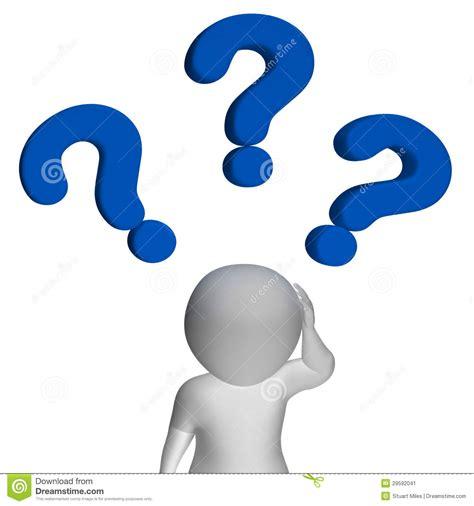 imagenes simbolos de interrogacion de vraagtekens over de mens toont verwarring en