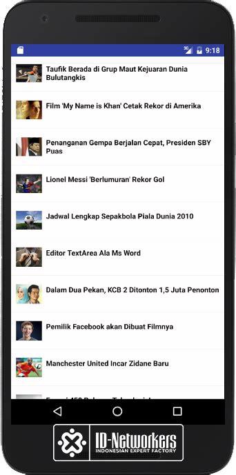 membuat aplikasi dengan database mysql membuat aplikasi portal berita android dengan json blog