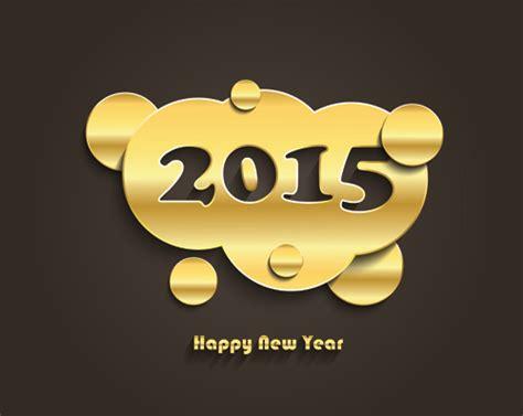 new year golden week 2015 golden creative 2015 new year vector material 01 vector