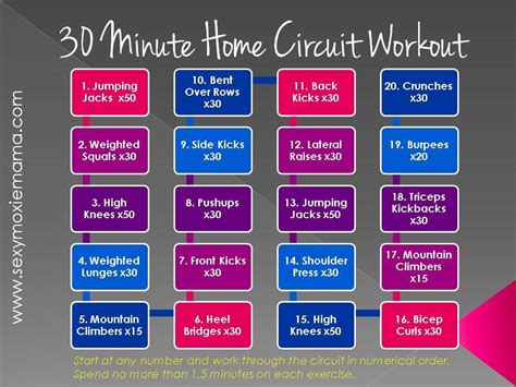 www sexymoxiemama 30 minute home circuit workout