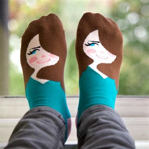 chattyfeet illustrated socks with witty names that