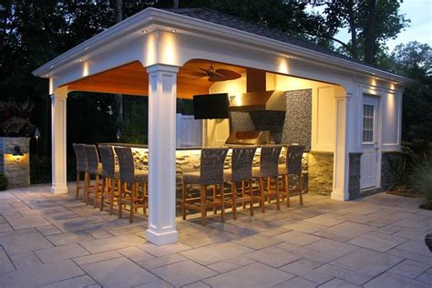 pool house bar 15 x 22 custom pool house cabana with outdoor kitchen