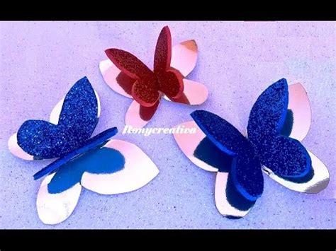 imagenes de mariposas amarillas en foami c 243 mo hacer mariposas doble ideales para decorar diy