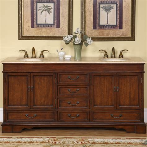 silkroad exclusive top sink cabinet 72 inch