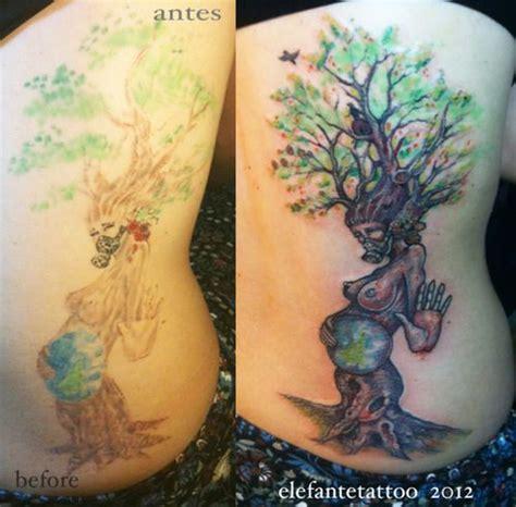 mother nature tattoo nature tree repair tattoos