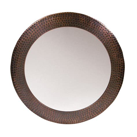 Copper Bathroom Mirrors The Copper Factory Cf139 Artisan Solid Hammered Framed Bathroom Mirror Atg Stores