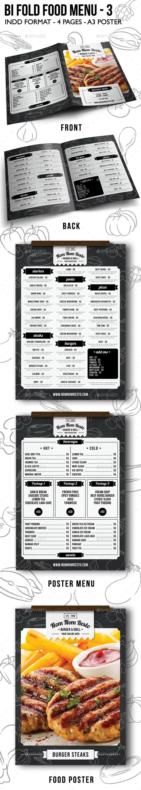 bi fold menu template print template graphicriver bi fold food menu 3 11912141