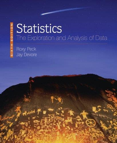 Ebook Statistics 6 statistics the exploration and analysis of data 6th