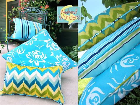 Fabric For Outdoor Cushions by Weekend Wonders With Fabric Outdoor Piped Pillow Trio