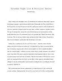 Exle Of A Satirical Essay by Essay Snl Political Satire