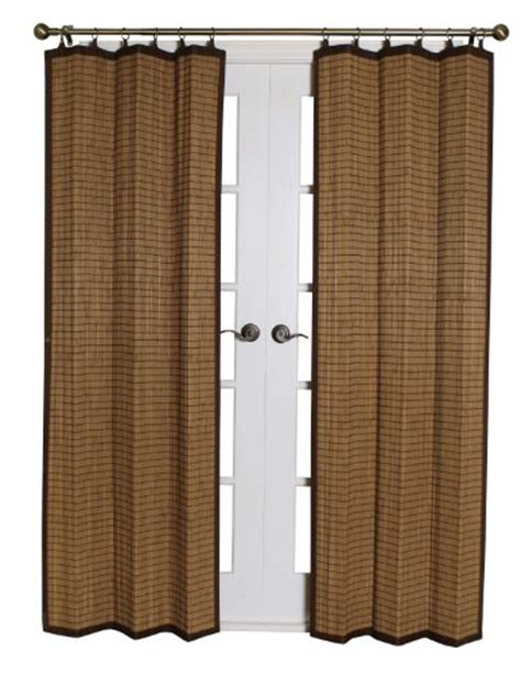 Bamboo Closet Door Curtains Bamboo Ring Top Curtain Panel Closet Door Brown 40l X 84h Inch Livining Room New Ebay
