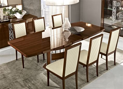italian dining room tables roma dining walnut italy modern formal dining sets